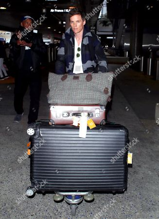 Eddie Redmayne at LAX International Airport, Los Angeles