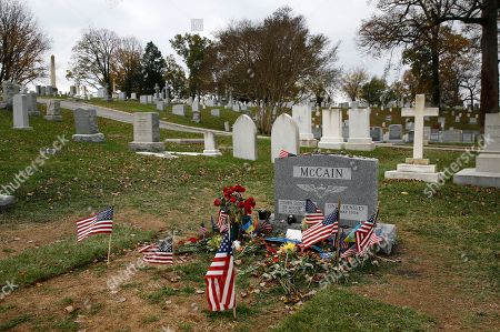 A headstone stands at the gravesite of Sen. John McCain, R-Ariz., at the U.S. Naval Academy Cemetery in Annapolis, Md. McCain died Aug. 25 from brain cancer at age 81