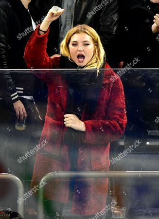 Rachel Hilbert attends Florida Panthers vs New York Rangers game at Madison Square Garden
