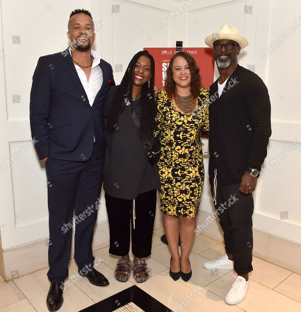 """Director Jahmil X. T. Qubeka, Jenisa Garland, Producer Layla Swart and Isaiah Washington attend the special presentation of """"Sew the Winter to My Skin"""" at The London West Hotel"""