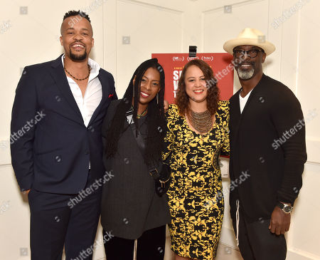 """Stock Image of Director Jahmil X. T. Qubeka, Jenisa Garland, Producer Layla Swart and Isaiah Washington attend the special presentation of """"Sew the Winter to My Skin"""" at The London West Hotel"""