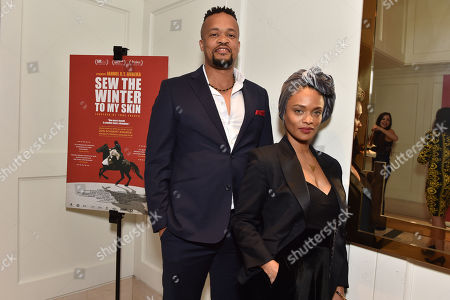 """Stock Picture of Director Jahmil X. T. Qubeka and actress Kandyse McClure attend the special presentation of """"Sew the Winter to My Skin"""" at The London West Hotel"""