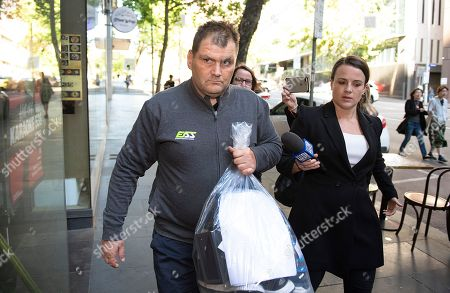 Michael Rogers is seen leaving Melbourne Magistrates Court, in Melbourne, Victoria, Australia, 17 November 2018 (issued 18 November 2018). Michael Rogers, 46, now known as 'Trolley Man' after he rammed the Bourke Street attacker with a trolley last week, has been granted bail on burglary and theft offences.