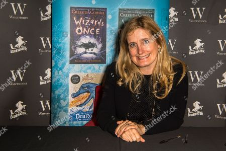 Editorial photo of Cressida Cowell 'The Wizards of Once: Twice Magic' book signing at Waterstones, Bluewater, Kent, UK - 17 Nov 2018