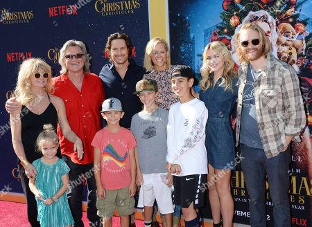 Goldie Hawn, Kurt Russell, Oliver Hudson, Erinn Bartlett, Bodhi Hudson, Wilder Hudson, Rio Hudson, Meredith Hagner and Wyatt Russell
