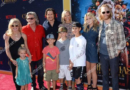 Stock Image of Goldie Hawn, Kurt Russell, Oliver Hudson, Erinn Bartlett, Bodhi Hudson, Wilder Hudson, Rio Hudson, Meredith Hagner and Wyatt Russell