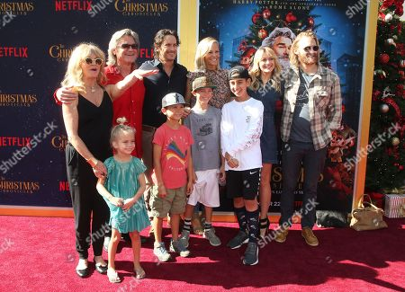 Goldie Hawn, Kurt Russell, Oliver Hudson, Erinn Bartlett, Wyatt Russell, Sanne Hamers, Bodhi Hawn Hudson, Wilder Brooks Hudson, Rio Hudson