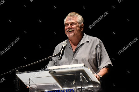 Stock Image of Oscar nominated filmmaker Gary Ross receives the Lifetime Achievement Award at a tribute screening of his 1998 award-winning film, Pleasantville at the 33rd Annual Fort Lauderdale International Film Festival at Bailey Hall, at Broward College in Davie, Florida on Saturday, Nov. 18, 2018