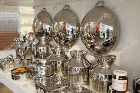 Kitchenware and plates from India for sale at Priscilla Carluccio's shop 'Few and Far'