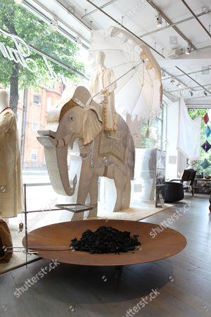 Editorial photo of Priscilla Carluccio at her shop 'Few and Far', Brompton Road, London, Britain - 22 Jul 2009