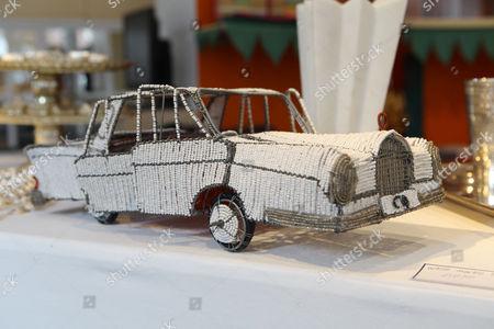 Beaded toy car for sale at Priscilla Carluccio's shop 'Few and Far'