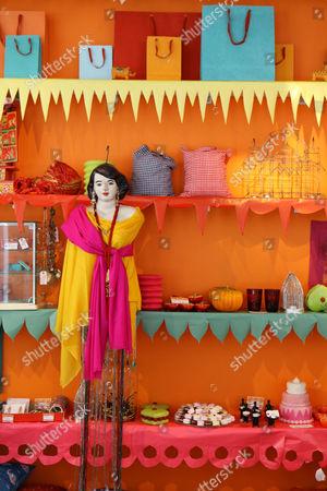 Editorial image of Priscilla Carluccio at her shop 'Few and Far', Brompton Road, London, Britain - 22 Jul 2009