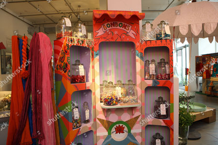 Stock Picture of Indian themed items for sale at Priscilla Carluccio's shop 'Few and Far'