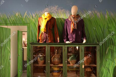 Clothes and pots for sale in the basement of Priscilla Carluccio's shop 'Few and Far'