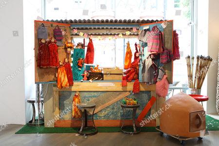 £10 Indian puppets for sale at Priscilla Carluccio's shop 'Few and Far'.