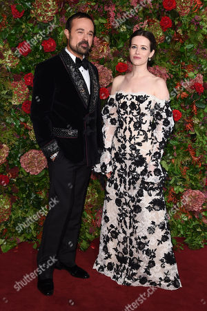 Evgeny Lebedev and Claire Foy