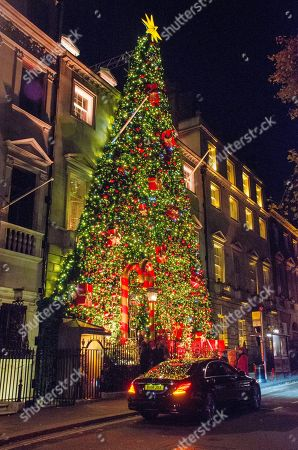 Christmas decorations at Annabel's, London