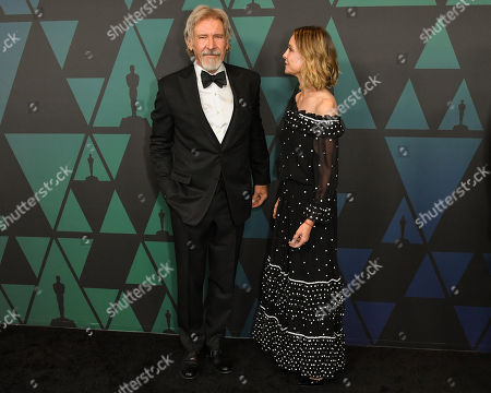 Stock Photo of Harrison Ford and Calista Flockhart
