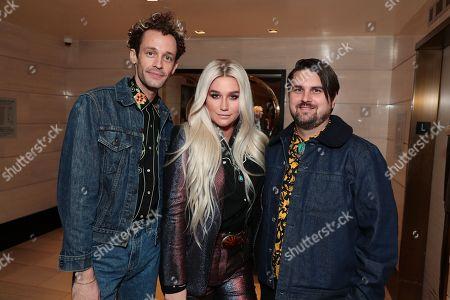 Stock Image of Stephen Wrabel - Songwriter, Kesha and Sage Sebert - Songwriter