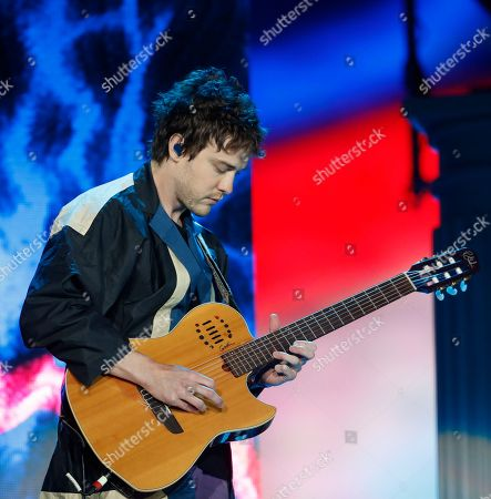 Stock Picture of Andrew VanWyngarden of MGMT performs on the second day of Corona Capital music festival in Mexico City