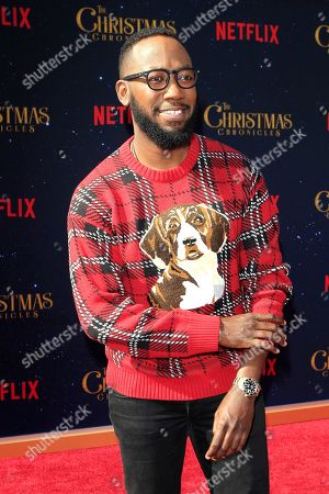 Lamorne Morris arrives for The Christmas Chronicles' Premiere at the Bruin Theater in Westwood, Los Angeles, California, USA, 18 November 2018. The movie will be released in the US on 22 November 2018.