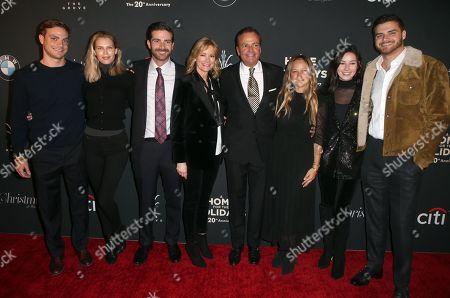 Stock Photo of Sara Foster, Rick Caruso, Tina Caruso, Greg Caruso, Gianna Caruso, Alex Caruso, Justin Caruso