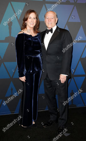 Kathleen Kennedy (L) and Frank Marshall (R)