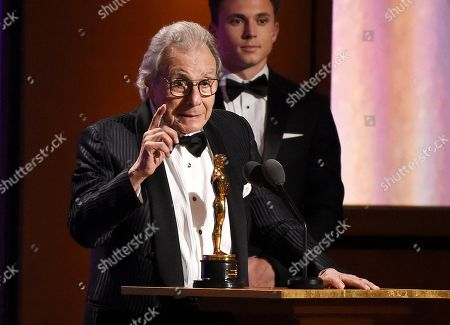Lalo Schifrin accepts his honorary Oscar onstage at the 2018 Governors Awards at The Ray Dolby Ballroom, in Los Angeles