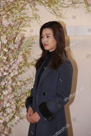 Stock Image of Gianna Jun attends Missha promotion conference