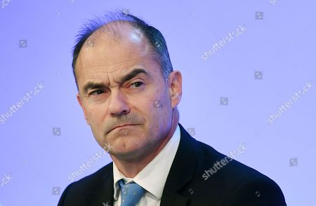 Chief Executive of Rolls Royce Warren East speaks at the annual Confederation of British Industry (CBI) conference in London, Britain, 19 November 2018. Reports state that guest speaker British Prime Minister Theresa May told business leaders in her speech that her Brexit deal with the EU will allow Britain to take back control of its borders.