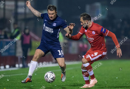 Editorial photo of Crawley Town v Southend United, The Emirates FA Cup First Round Replay, Football, Broadfield Stadium, Crawley, UK - 20 Nov 2018