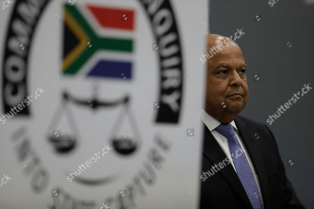 Public Enterprises Minister Pravin Gordhan appears at the judicial commission of inquiry into state capture in Johannesburg, South Africa. . Gordhan is expected to reveal details surrounding former president Jacob Zuma's trillion-rand nuclear procurement campaign as well as other corruption practices