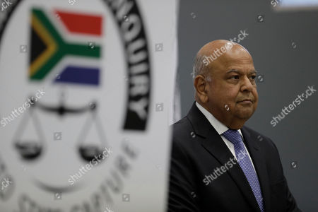 Public Enterprises Minister Pravin Gordhan appears at the judicial commission of inquiry into state capture in Johannesburg, South Africa. . Gordhan is expected to reveal details surrounding former president Jacob Zuma's trillion-rand nuclear procurement campaign as well as other corruption prcatices
