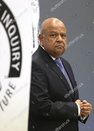 Stock Picture of Former Finance Minister Pravin Gordhan he testifies at the State Capture Inquiry in Johannesburg, South Africa, 19 November 2018. The now Public Enterprises Minister Pravin Gordhan is appearing in front of the inquiry as part of an ongoing investigation into the state capture of government SEO and other organs of the state by former President Jacob Zuma and his political allies.