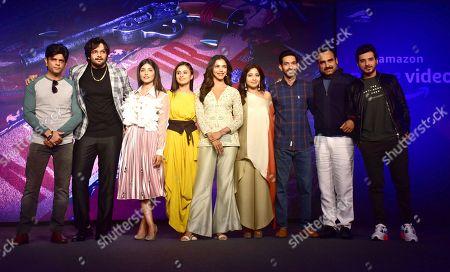 (L to R) Actor Amit Sial, Ali Fazal, Harshita Gaur, Rasika Duggal, Shriya Pilgaonkar, Shweta Tripathi, Vikrant Massey, Pankaj Tripathi and Divyenndu Sharma