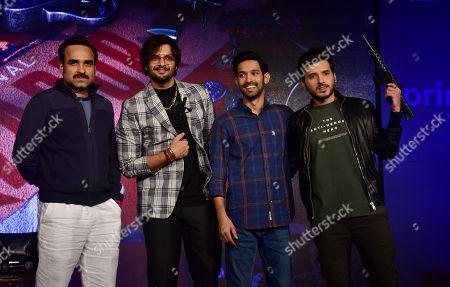 (L to R) Actor Pankaj Tripathi, Ali Fazal, Vikrant Massey and Divyenndu Sharma