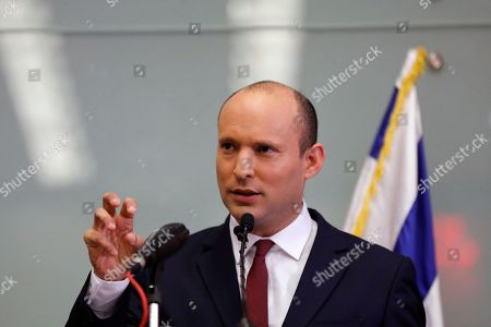 Israeli Minister of Education Naftali Bennet speaks during a press conference in the Israeli Knesset, (Israeli Parliament), in Jerusalem, 19 November 2018. Media reports state that the Netanyahu government will not go to early elections after Naftali Bennett and Ayelet Shaked of the Jewish Home Party decided not to resign from the coalition. The elections are scheduled to take place in November 2019