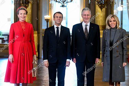 French President Emmanuel Macron visit to Belgium