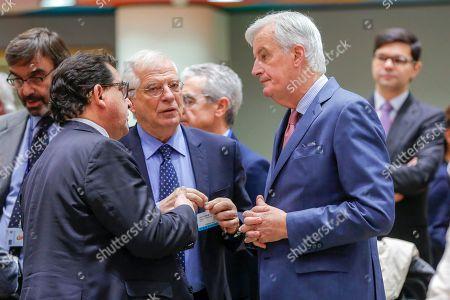 Josep Borrell, Marco Aguiriano, Michel Barnier,