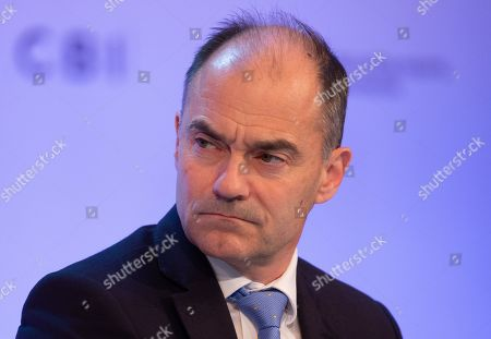 Stock Image of Warren East, Chief Executive of Rolls Royce PLC, at The Confereration of British Industry (CBI) conference at the Intercontinental Hotel in North Greenwich.