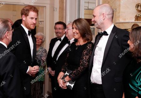 Stock Photo of Prince Harry, ITV CEO Carolyn McCall and Julian Bellamy