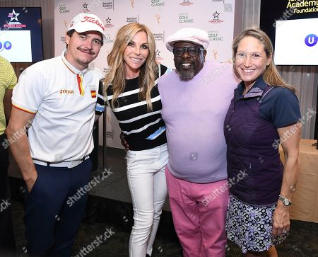 Deborah Bradley, Cedric the Entertainer, Cindy Ambuehl, Arturo Del Puerto. Arturo Del Puerto, Cindy Ambuehl, Cedric the Entertainer, and Deborah Bradley, Television Executive attend the 19th Annual Emmys Golf Classic at the Wilshire Country Club on in Los Angeles