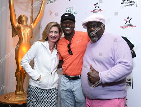 Jodi Delaney, Edwin Hodge, Cedric the Entertainer. Jodi Delaney, executive director, Television Academy Foundation, from left, Edwin Hodge and Cedric the Entertainer pose at the 19th Annual Emmys Golf Classic at the Wilshire Country Club on in Los Angeles