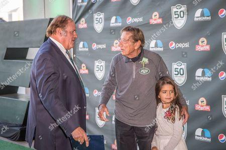 Chris Berman, Joe Namath. Sports Broadcaster Chris Berman, left, and Former New York Jet Joe Namath, center, attend the New York Jets Super Bowl III 50th anniversary dinner at MetLife Stadium, in East Rutherford, N.J