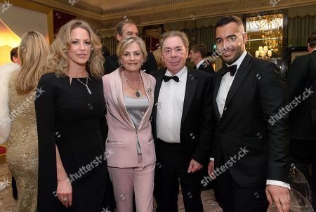 Guest, Lady Madeleine Lloyd Webber, Lord Sir Andrew Lloyd Webber and Sheikh Fahad Al Thani