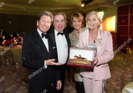 John Warren, Lord Sir Andrew Lloyd Webber, Lady Carolyn Warren and Lady Madeleine Lloyd Webber