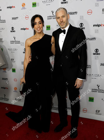 Catherine Reitman (L) and Philip Sternberg arrive for the 46th International Emmy Awards Gala at the New York Hilton hotel in New York, New York, USA, 19 November 2018.