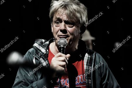 Graham Fellows performing as Jilted John at The Haunt, Brighton, UK on 7th October 2018 during Jilted John's 40th Anniversary tour