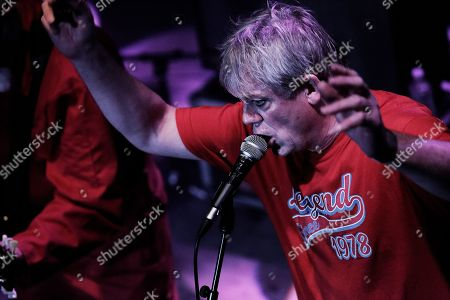 Graham Fellows performing as Jilted John with Steve Halliwell at The Haunt, Brighton, UK on 7th October 2018 during Jilted John's 40th Anniversary tour
