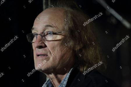 John Otway backstage at The Haunt, Brighton, UK on 7th October 2018 as support on Jilted John's 40th Anniversary tour